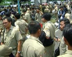 Saat Demo di gedung DPR